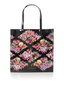 Ted Baker Calicon large floral bowcon bag