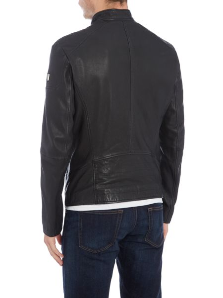 Hugo Boss Jofynn leather biker jacket