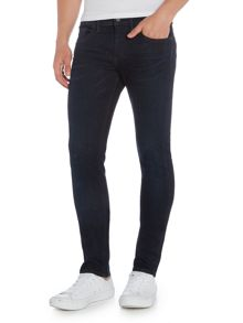 Hugo Boss Orange 72 skinny fit overdyed blue jeans