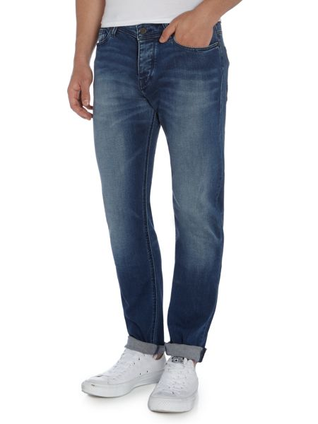 Hugo Boss Orange 90 tapered fit light wash jeans