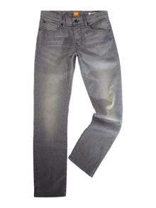 Hugo Boss Orange 24 regular fit light wash grey jeans