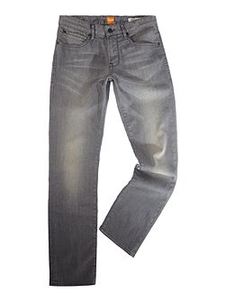 Orange 24 regular fit light wash grey jeans