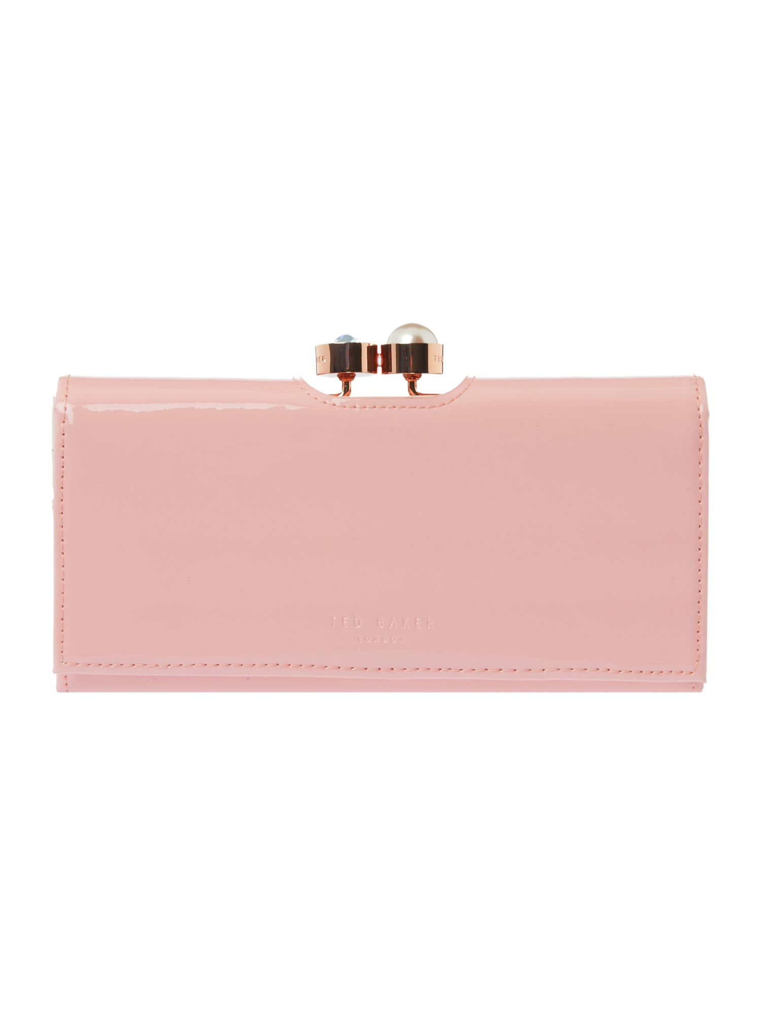 Ted Baker Cecile large flapover purse Light Pink
