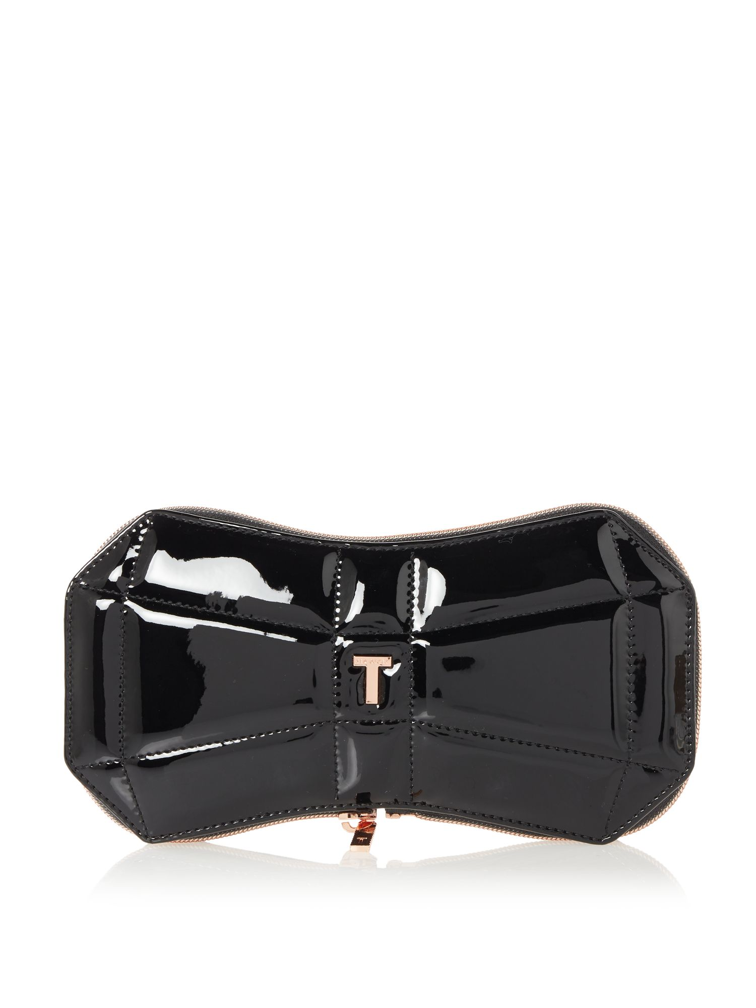 Ted Baker Arminda foldaway shopper bag Black