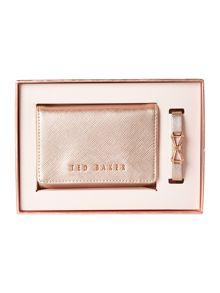 Ted Baker Irma rose gold bracelet and purse gift set