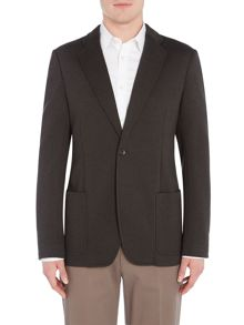 Armani Collezioni Single Breasted Cotton-Blend Blazer