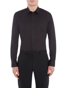 Armani Collezioni Solid Stretch-Cotton Shirt