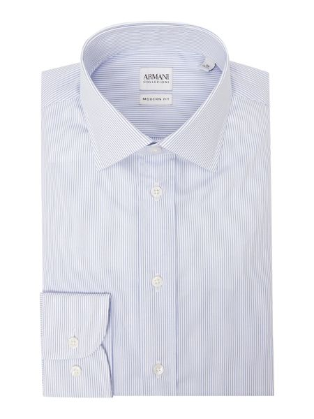 Armani Collezioni Stripe Stretch-Cotton Shirt
