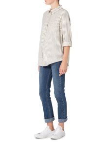 Maison De Nimes Stripe  Brushed Shirt
