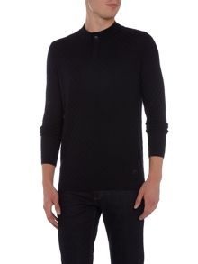 Armani Collezioni Button Neck Wool Jumper