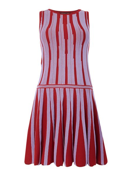 Endless Rose Sleeveless Striped Fit and Flare Tunic Dress