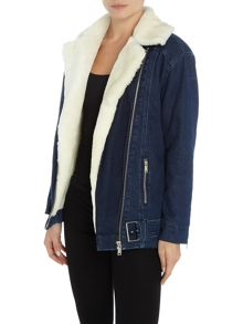7 For All Mankind Oversized shearling jacket
