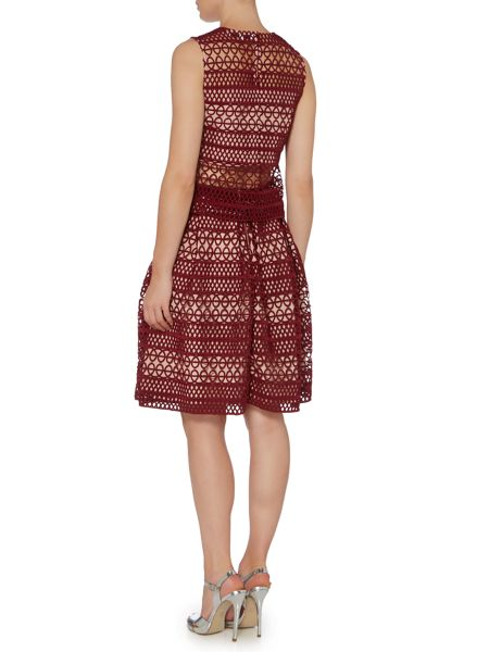 Endless Rose Embroidered Fit and Flare Skirt