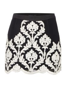 Endless Rose Monochrome Printed Mini Skirt
