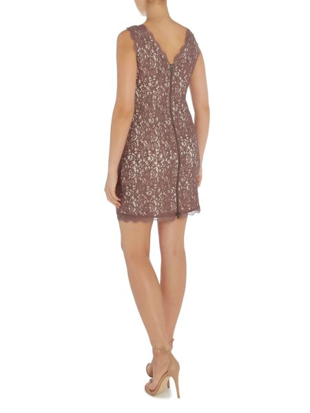 Adrianna Papell Petite all over lace dress