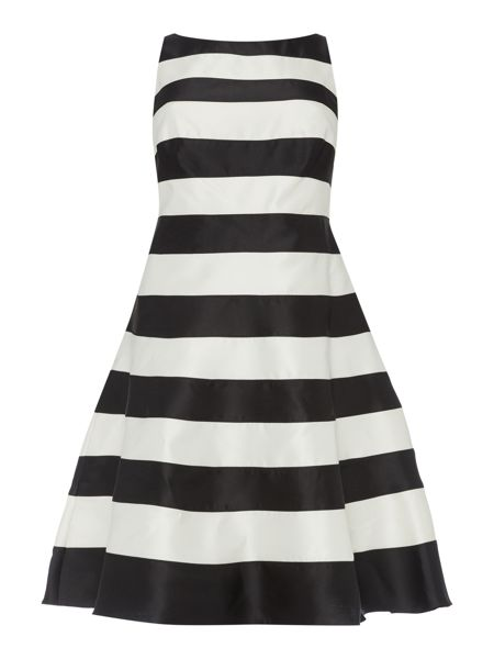 Adrianna Papell Plus size fit and flare striped dress