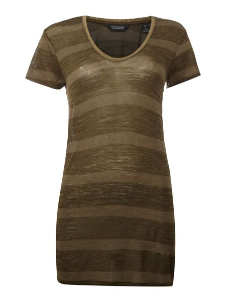 Maison Scotch Striped T Shirt