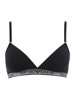 Visibility stellar cotton triangle bra