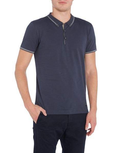 Hugo Boss Pejo regular fit tipped polo shirt