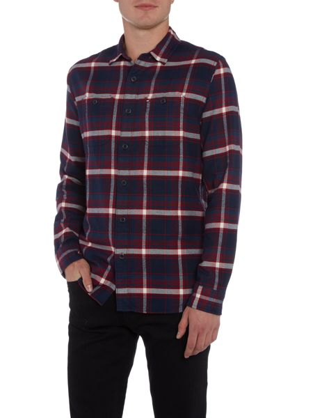 Tommy Hilfiger Long Sleeve Checked Brushed Cotton Shirt