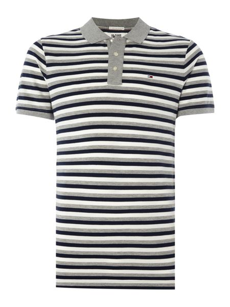 Tommy Hilfiger Short Sleeve Multi Striped Polo