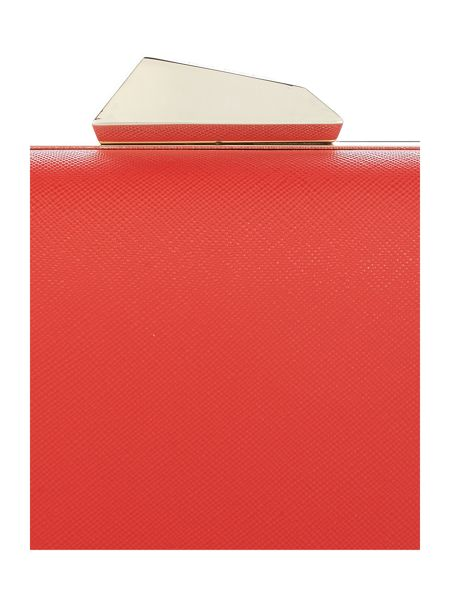 Olga Berg Red box large clutch