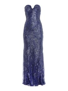 tfnc Strapless Lace Maxi with Sequin Detail