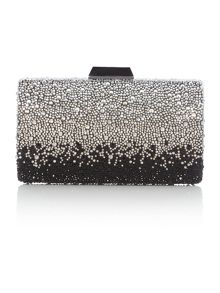 Olga Berg Black ombre crystal clutch