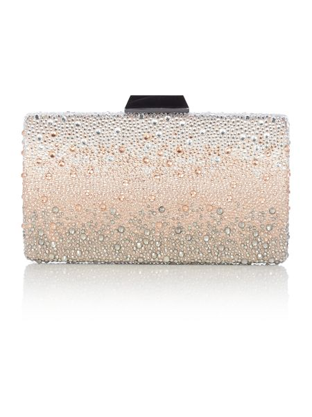 Olga Berg Neutral ombre crystal clutch