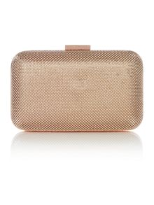 Olga Berg Rose gold box clutch bag