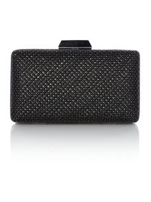 Olga Berg black ball mesh box clutch bag