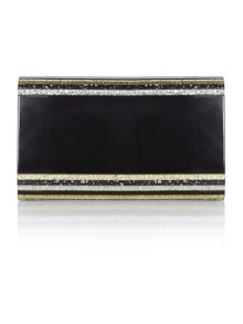Olga Berg Black Multi Metallic Acrylic Clutch bag