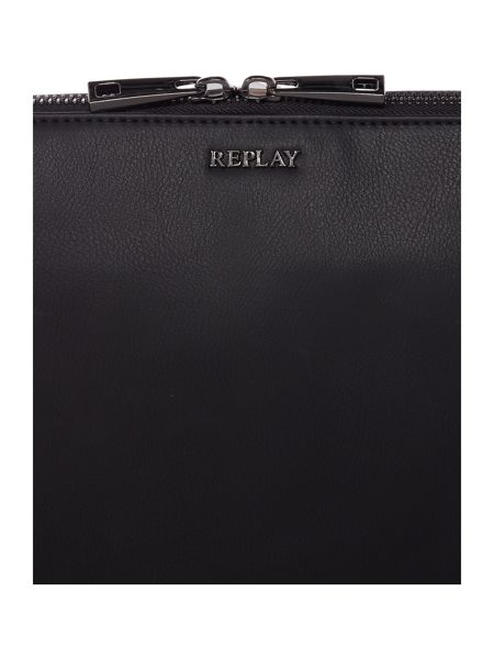 Replay Leather Shoulder Bag