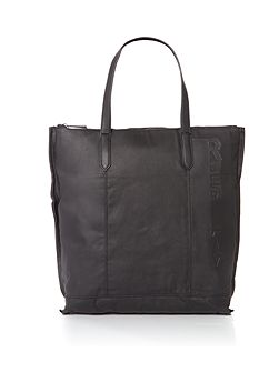 Waxed Denim And Leather Bag