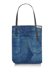 Replay Recycled Denim Shoulder Bag