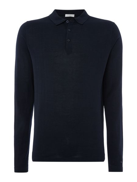 Selected Homme Knitted Long Sleeve Polo