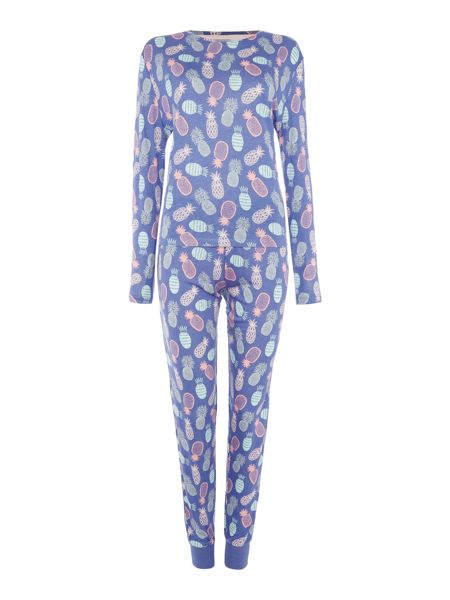 Chelsea Peers Pineapple long sleeve pyjama set