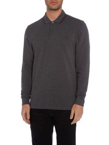 Fred Perry Fred Perry Long Sleeve Twin Tipped Polo