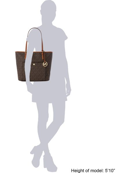 Michael Kors Jetset item brown large pocket tote bag