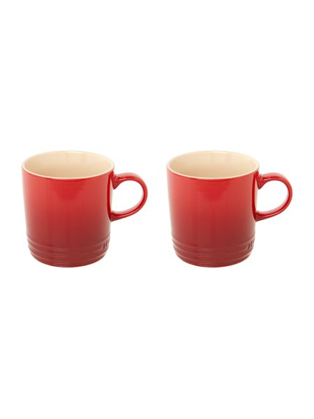 Le Creuset Set of 2 Espresso Cups, Cerise