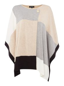 Episode Knit poncho with buckle