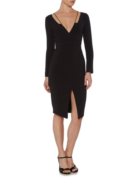 Talulah 1/2 Sleeve Plunge Neck Dress