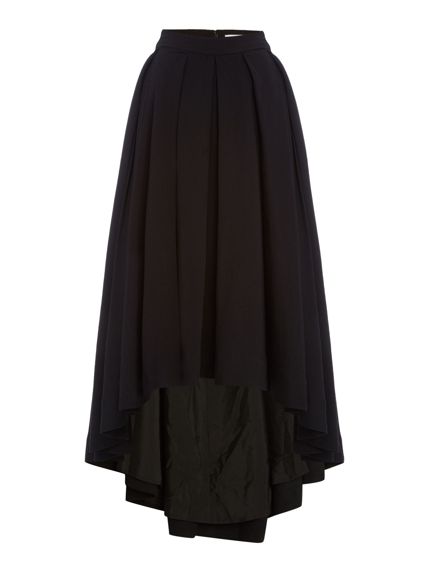 Talulah Split Front Midi Skirt, Black