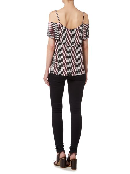 Therapy Geo Print Cold Shoulder