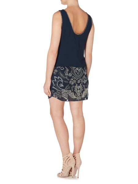 Adrianna Papell Beaded Hem Blouson Dress