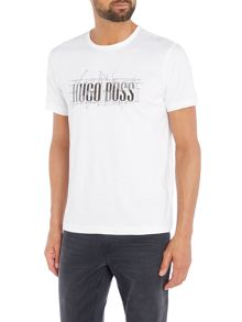 Hugo Boss Compass logo print t shirt