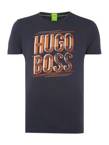 Hugo Boss 3D logo print t shirt