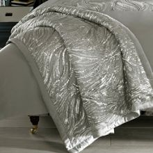 Kylie Minogue Celino silver throw 130x220cm