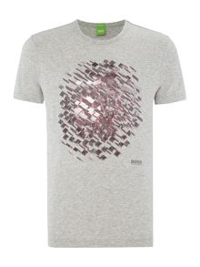 Hugo Boss Geo circle graphic t shirt