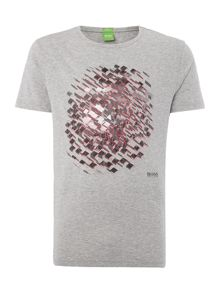 Hugo Boss Regular fit fish eye text logo t shirt